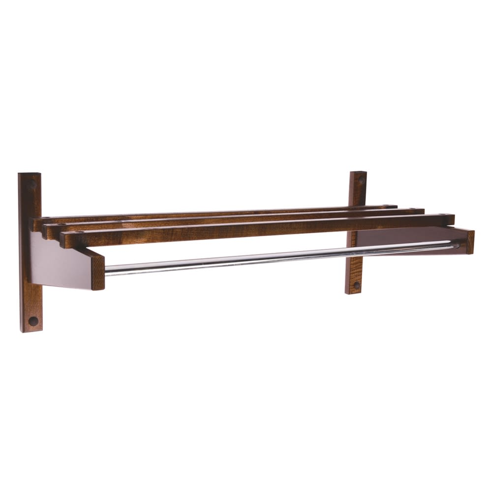 Wooden Coat Rack, 30in, Walnut Finish