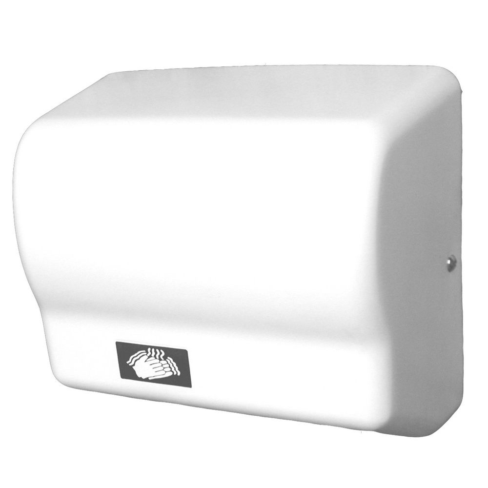 World Dryer® Automatic Hand Dryer, White ABS Polymer Cover