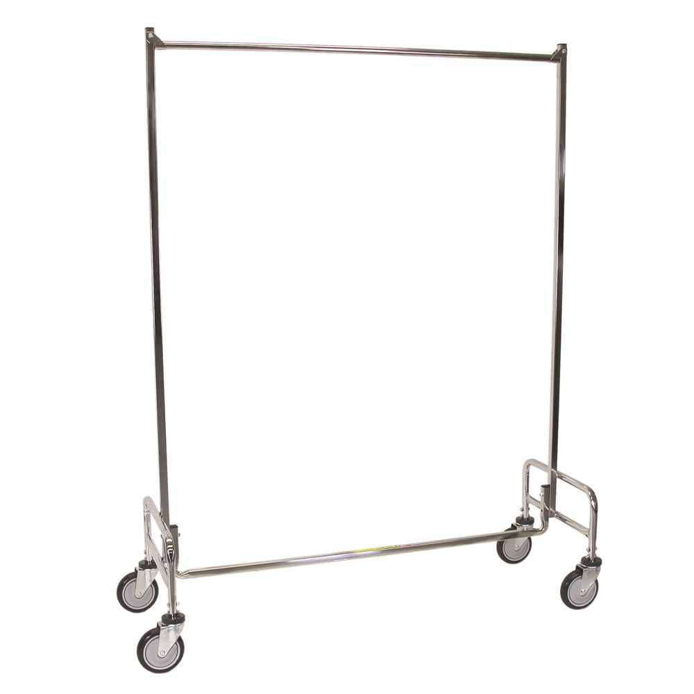 Garment Rack, Single Pole, Chrome
