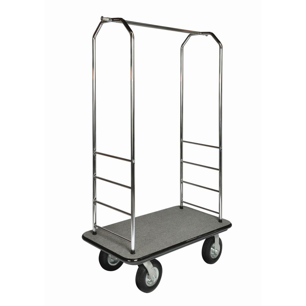 Bellman Cart Chrome, Gray Bumper, 8in Black Pneumatic, Gray Carpet