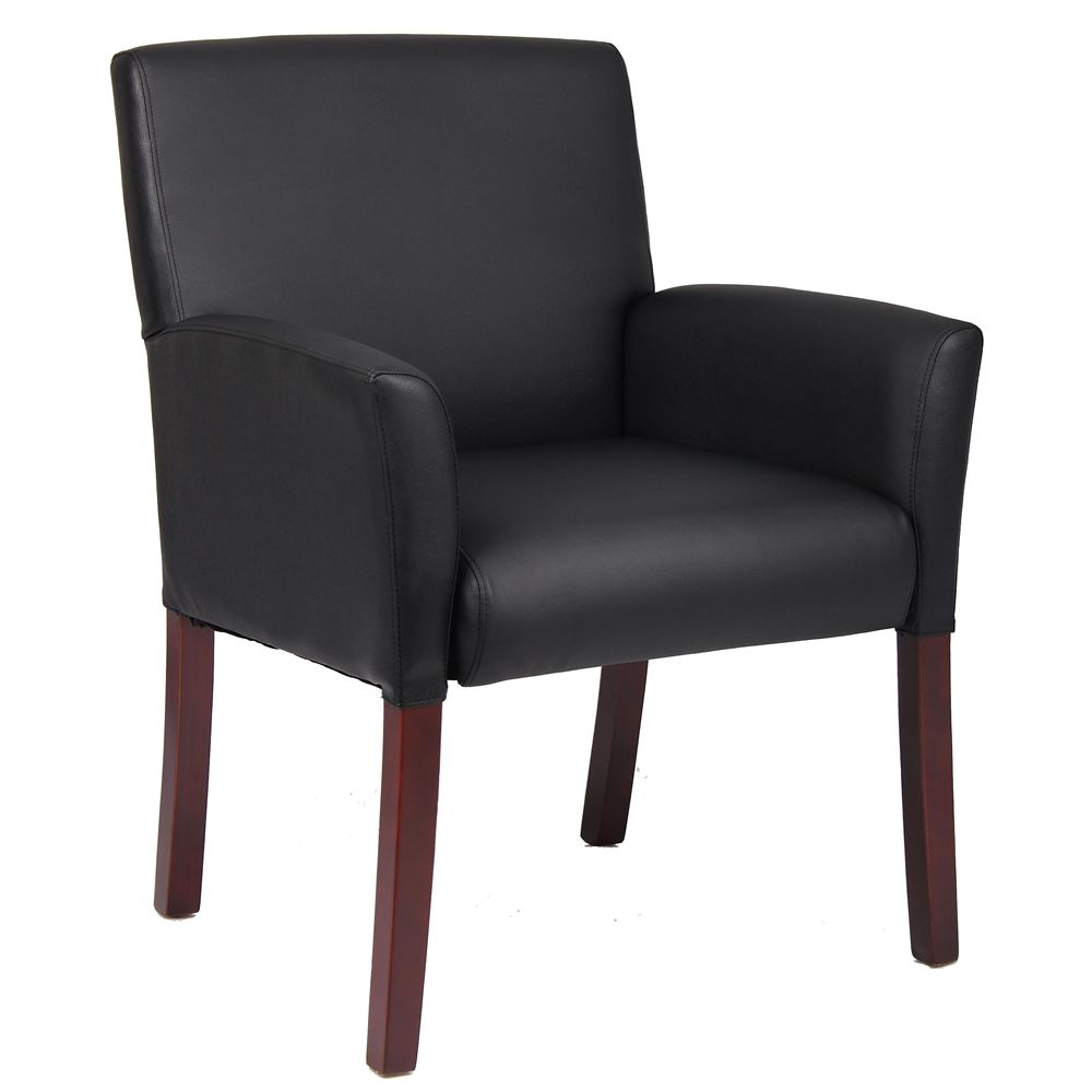 Boss Box Arm Accent Chair, Black