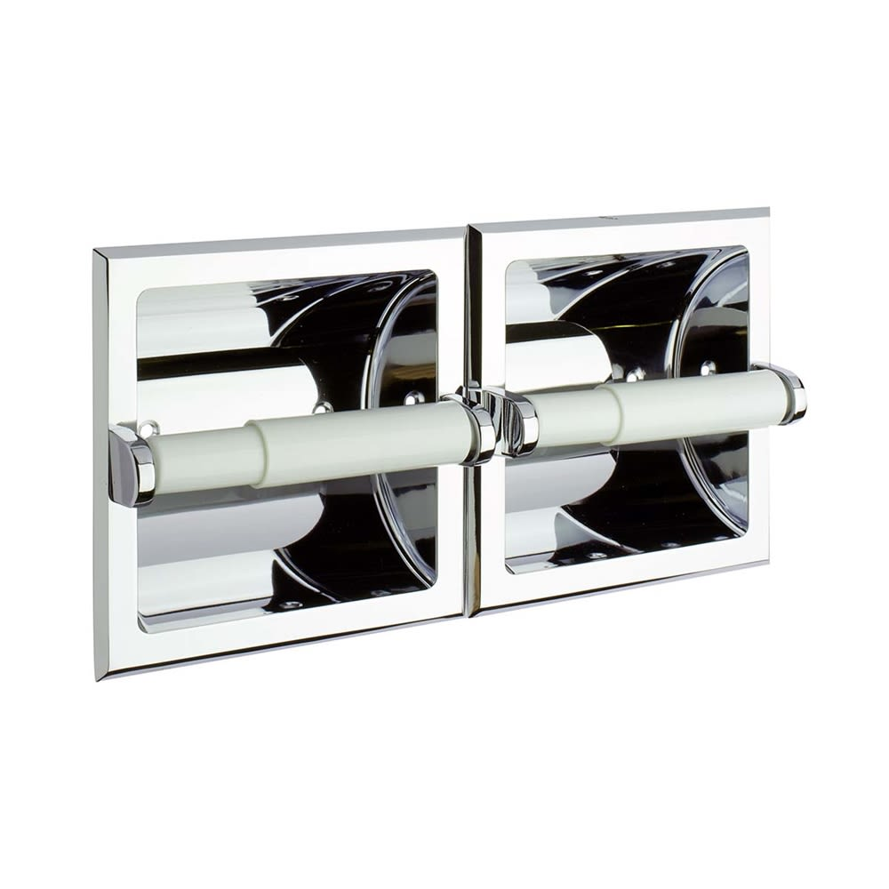 Taymor® Twin Toilet Paper Holder, Recessed Mount, Polished Chrome