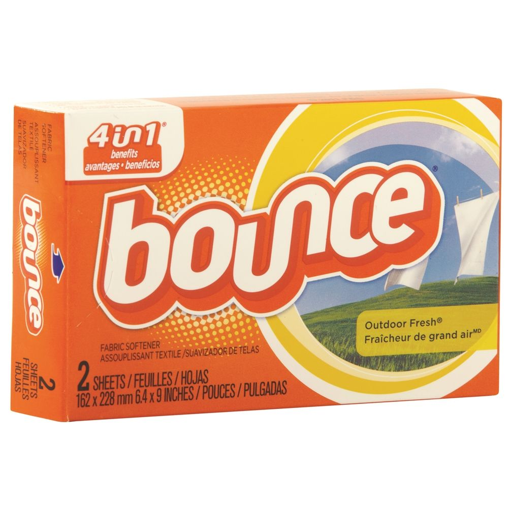 Bounce® Fabric Softener Dryer Sheets for Coin Vend Machine 2 Sheets/Box 2oz Box