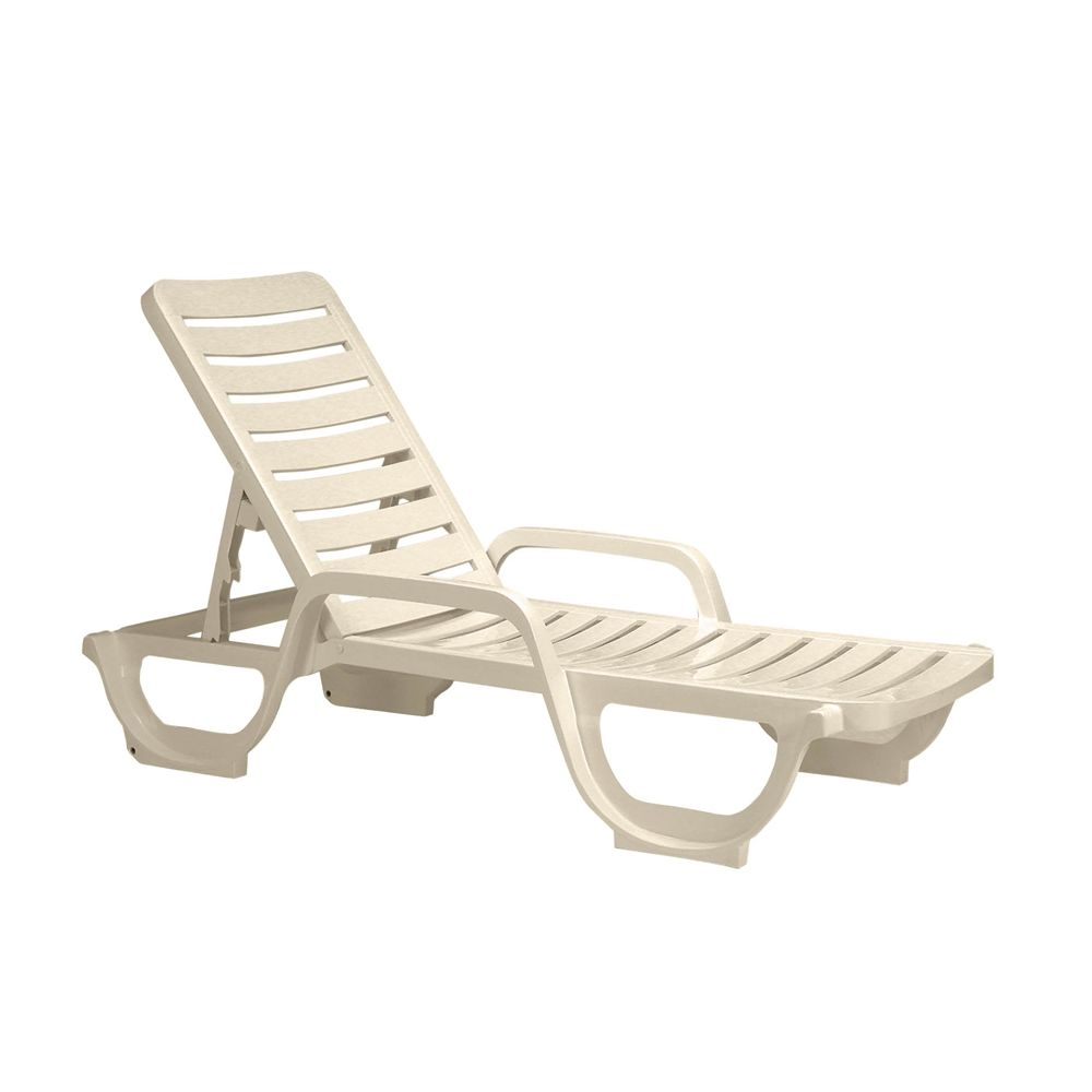 Grosfillex® Bahia Adjustable Chaise, Sandstone