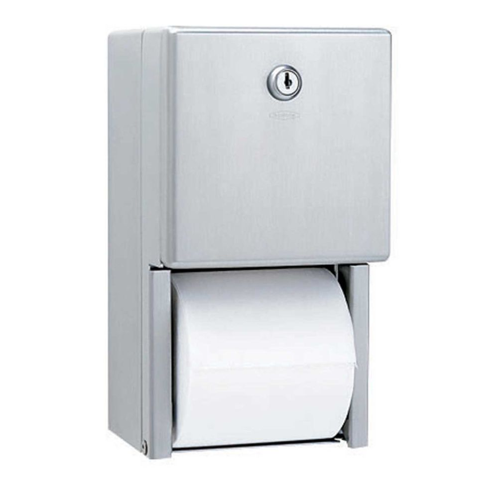 Bobrick® B-2888 Surface-Mounted Multi-Roll Toilet Paper Dispenser, Stainless Steel