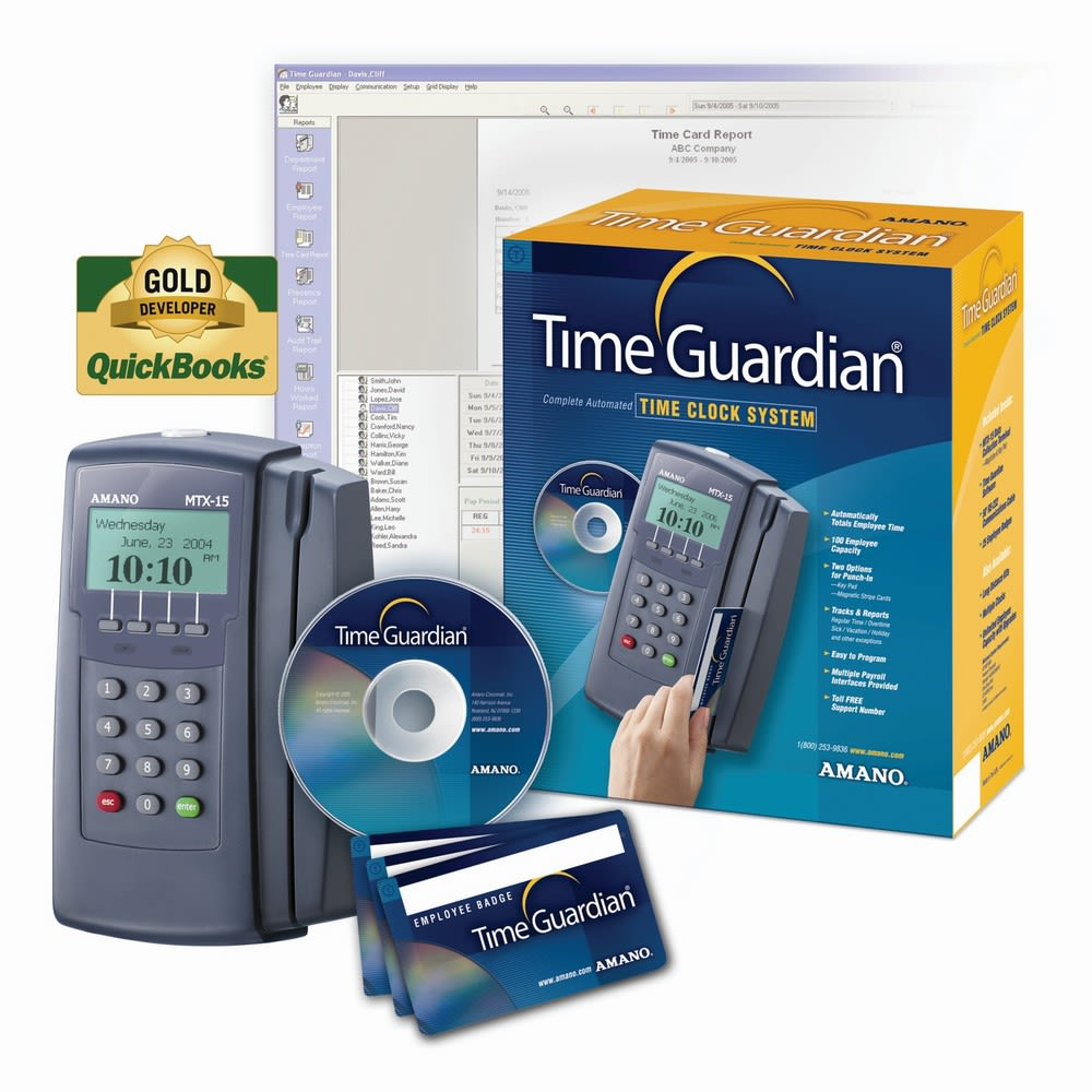 Amano® Time Guardian Complete Automated Time Clock System