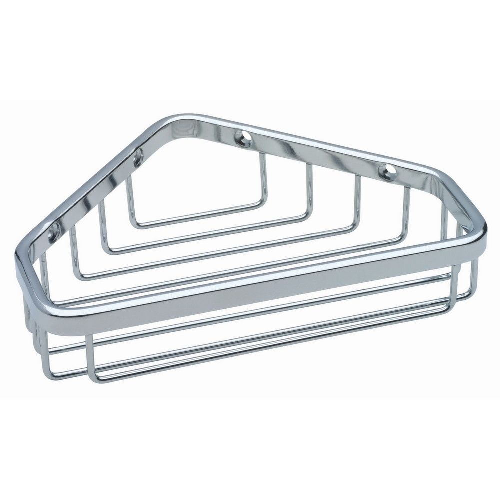 Franklin Brass® Wire Corner Shower Basket, Small, Bright Stainless Steel