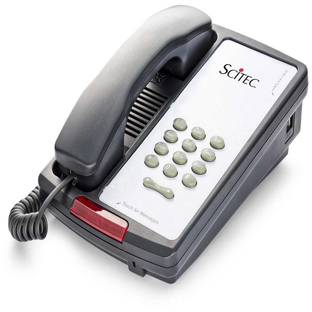 Aegis P-08 Basic Single-Line Telephone, Black