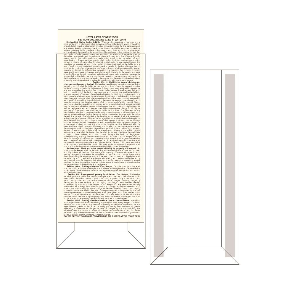 Display Holder for Law Card 5x13 Clear