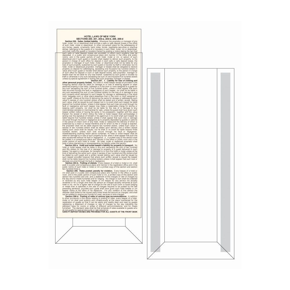 Display Holder for Law Card 4x9-1/2 Clear