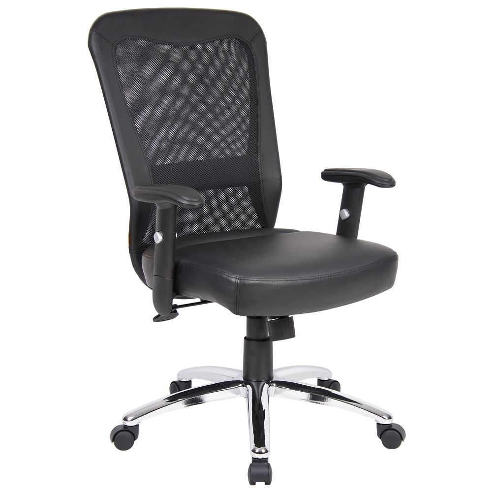 Boss Web Chair with Chrome Base, Black