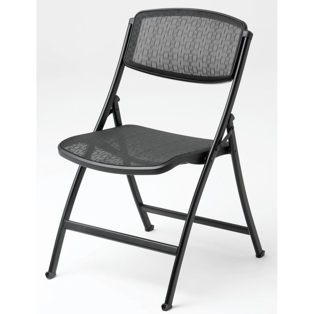 Mity-Lite® Folding Chair, Black Mesh & Frame