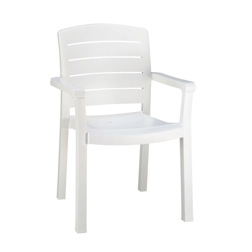 Grosfillex® Acadia Classic Dining Armchair, White