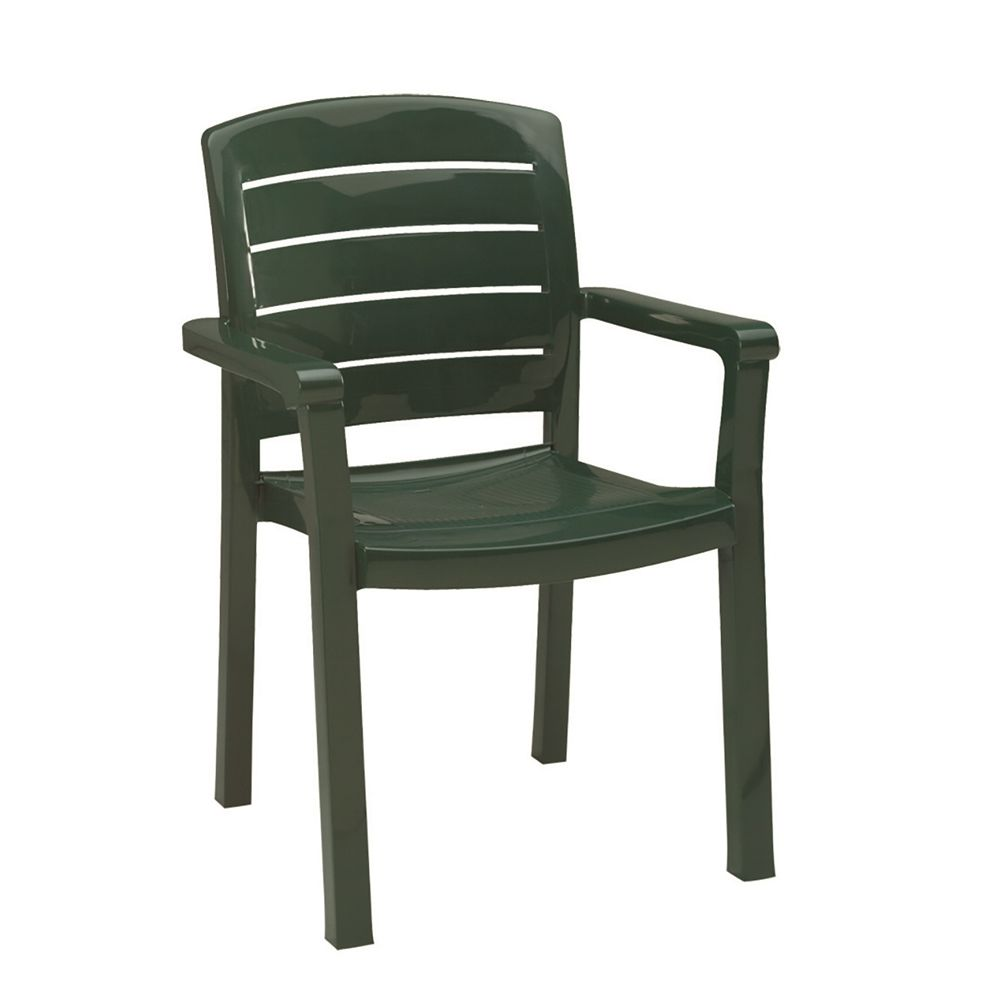 Grosfillex® Acadia Classic Dining Armchair, Amazon Green