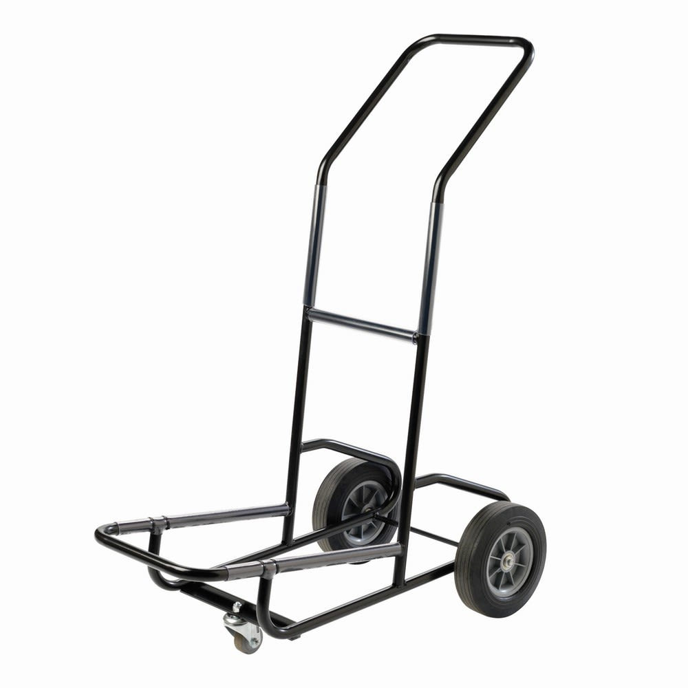 3-Wheel Stack Chair Hand Truck, Satin Black
