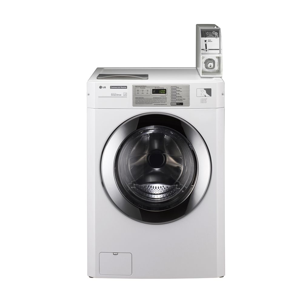 LG Coin-Operated Commercial Washer, 3.63 Cu Ft, 22 lb Capacity, White