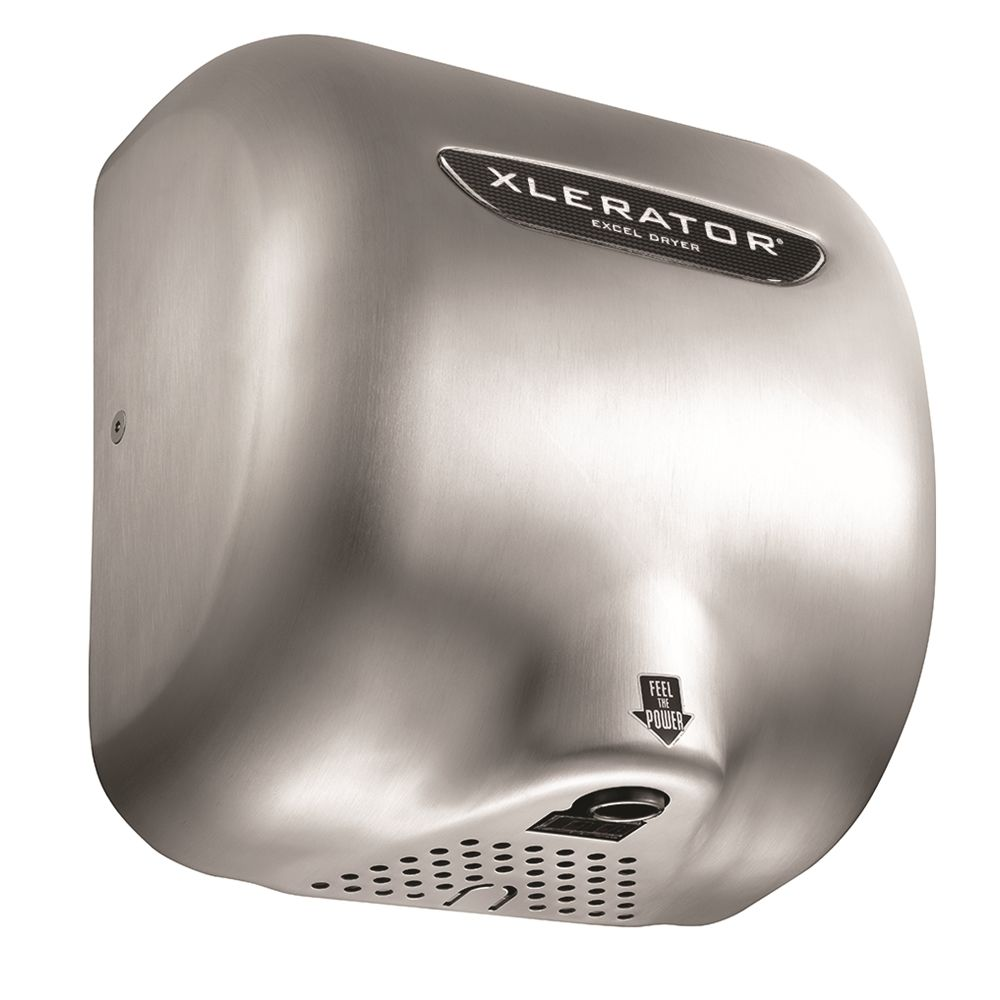 XLERATOR® Automatic Hand Dryer, Surface Mounted, Brushed Stainless Steel Cover