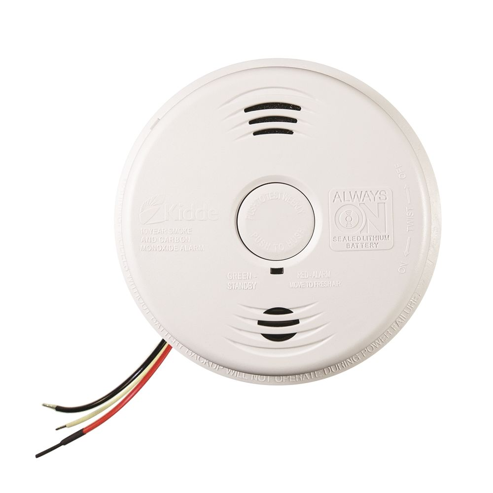 Kidde Hardwired Combination Smoke & Carbon Monoxide Alarm with 10 Year Sealed Lithium Backup Battery