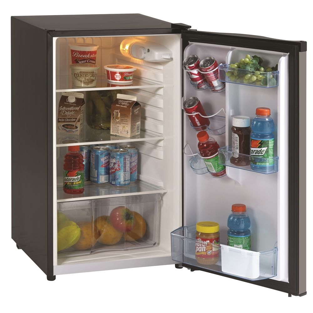 Avanti® All-Refrigerator, 4.4 Cu Ft, Energy Star Rated, Auto Defrost, Black / Stainless Steel Door