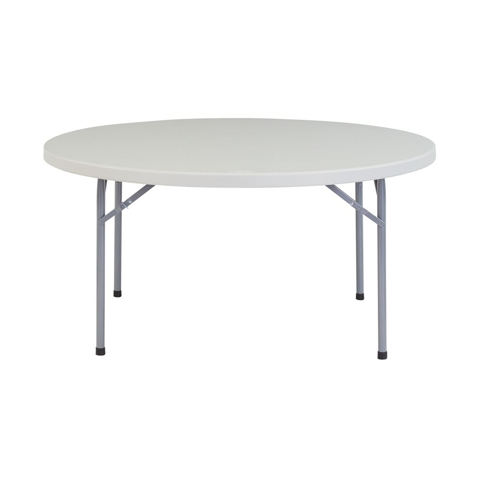 60'' Heavy Duty Round Folding Table, Speckled Grey