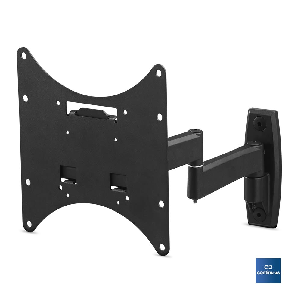 Heavy Duty Flat Screen Cantilever Wall Mount for Televisions 22-32in, Black