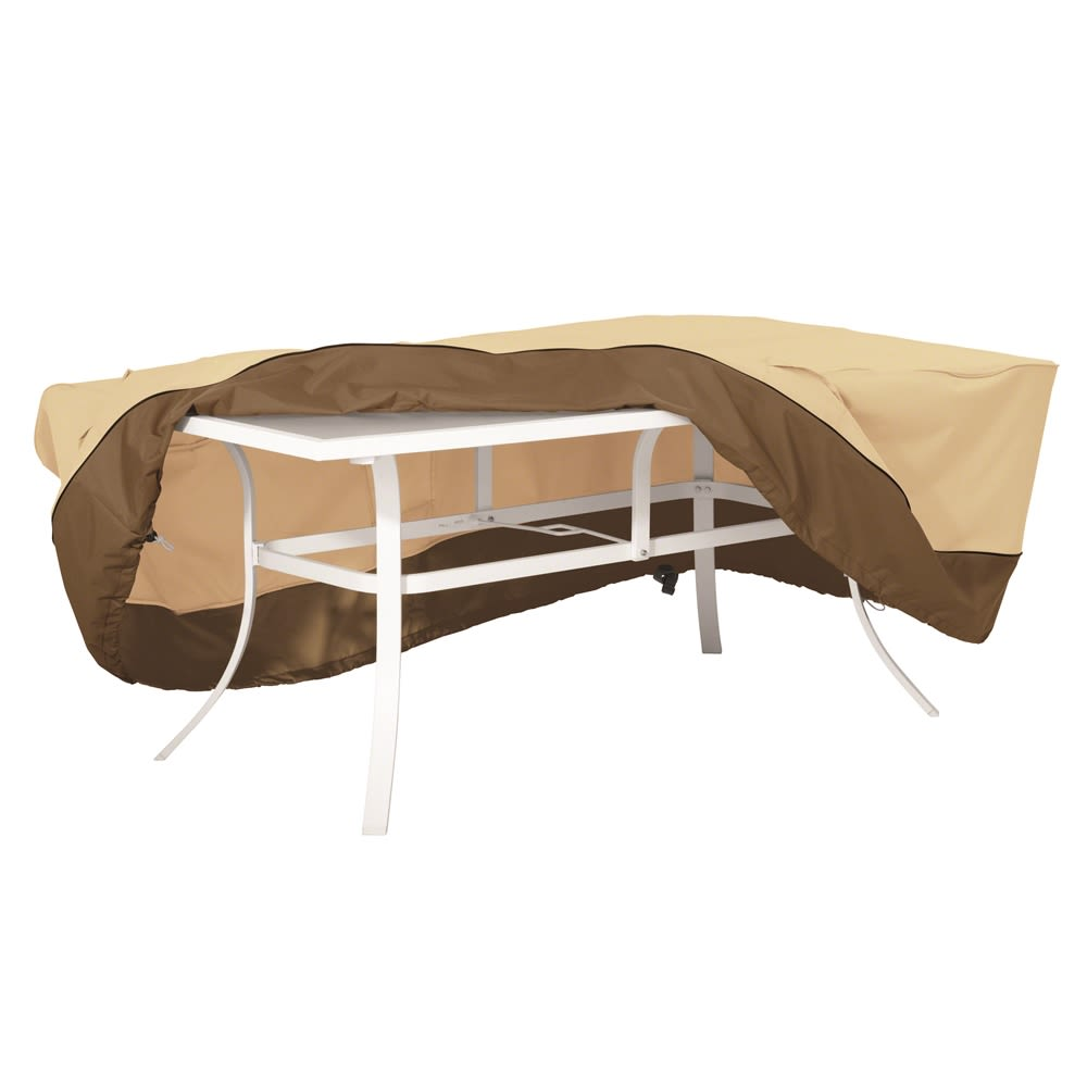 Classic Accessories Veranda Large Rectangular Patio Table Cover, Brown