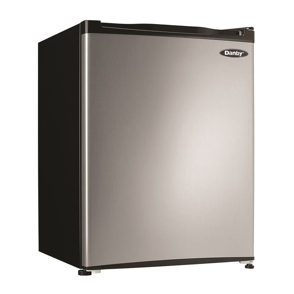 Danby® All-Refrigerator, 2.3 Cu Ft,  Auto Defrost, Stainless Steel
