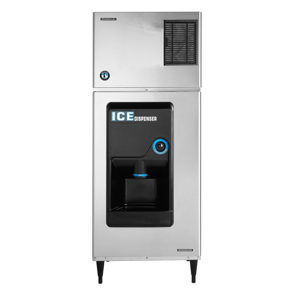 "Hoshizaki 30in Low Profile Ice Machine with Push Button Dispenser, 30""W x 30""D x 75""H"