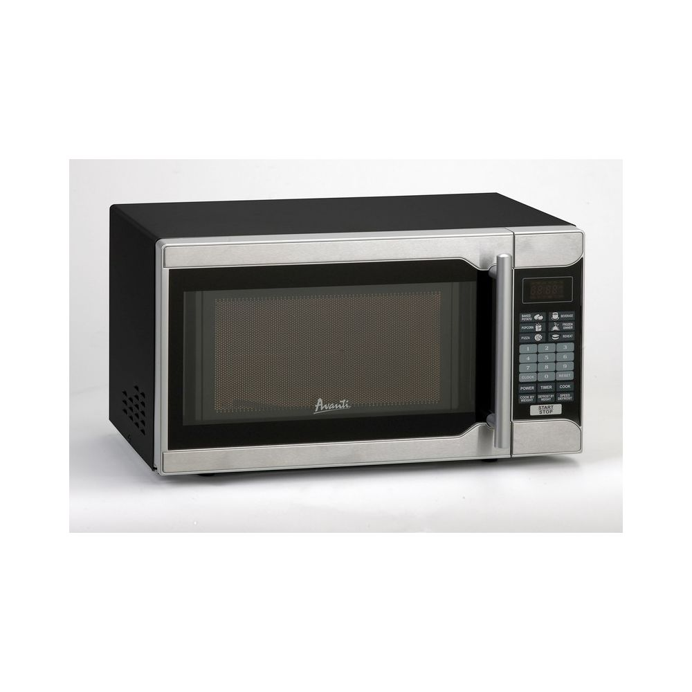 Avanti® Microwave w/ Touch Pad, 0.7 Cu Ft, 700 Watts, Stainless Steel/Black