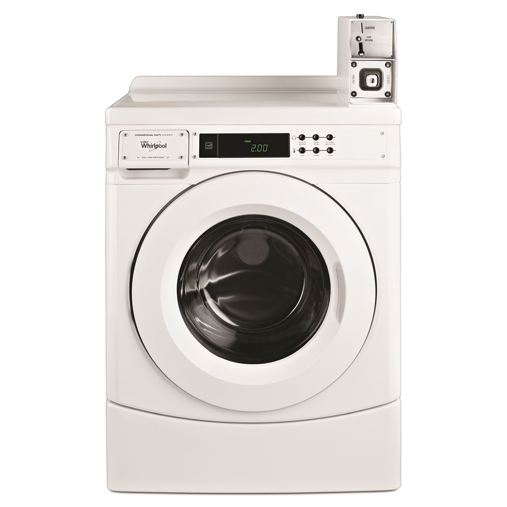 Whirlpool® Front Load Commercial Coin-Operated Washer, 3.1 Cu Ft Capacity, White