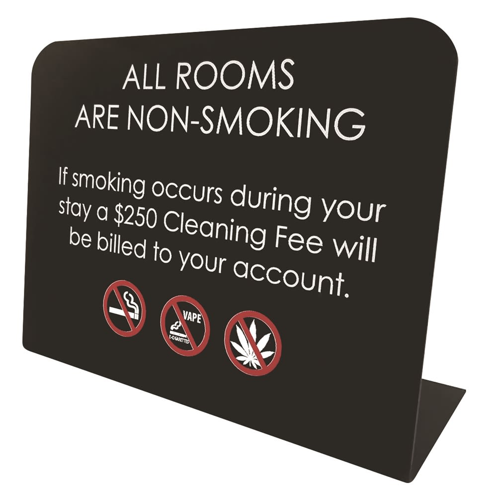 All Rooms Non-Smoking/$250 Fee Easel, Black