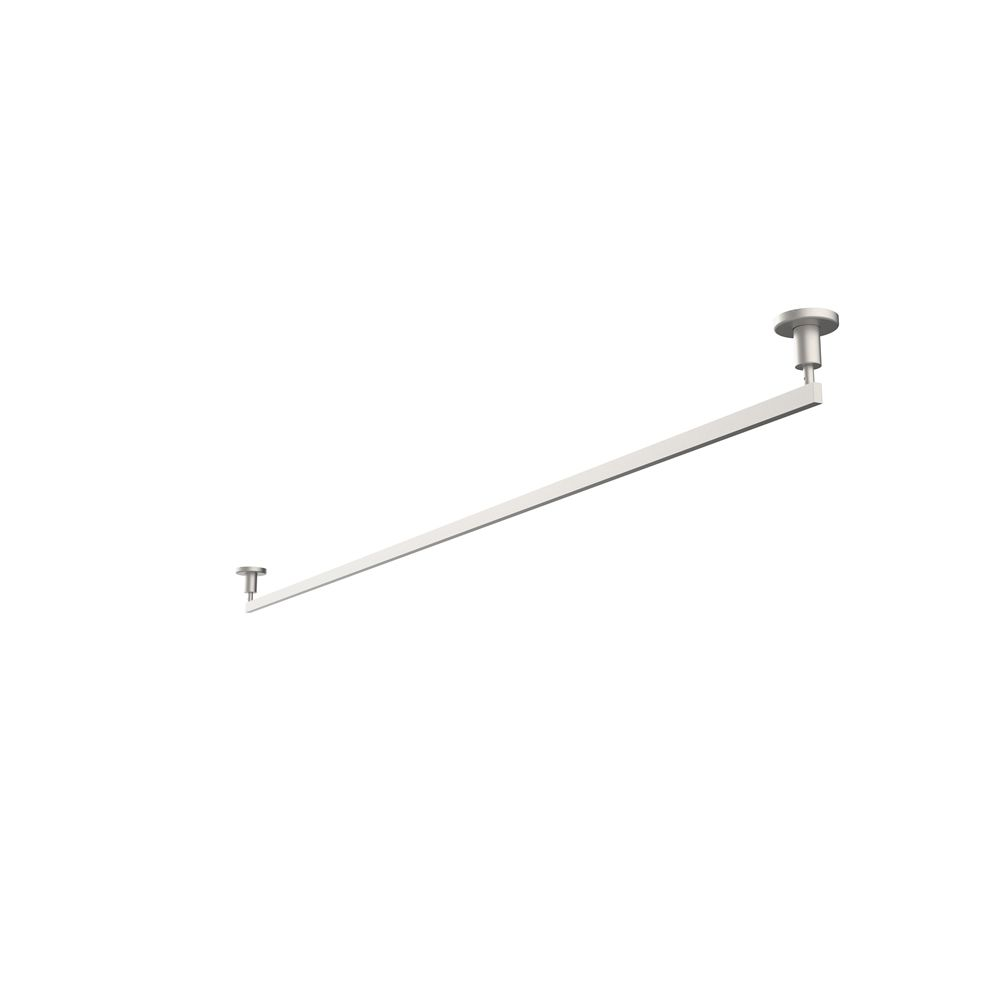 Room Divider Rod, 86in L, Stainless Steel