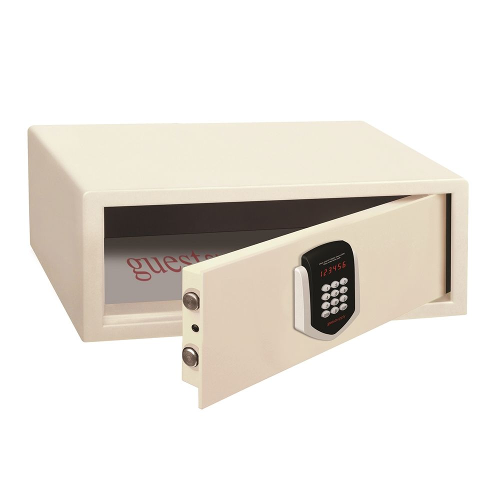 Guest Supply Branded  Front Load Safe Accommodates 17in Laptop, Ivory