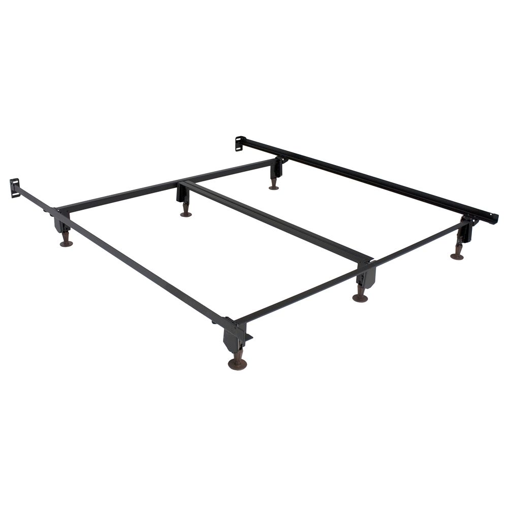 "Hollywood Bed  Eco-Matic® 7.5"" H Bed Frame with Glides & 76in Side Rails, Queen"