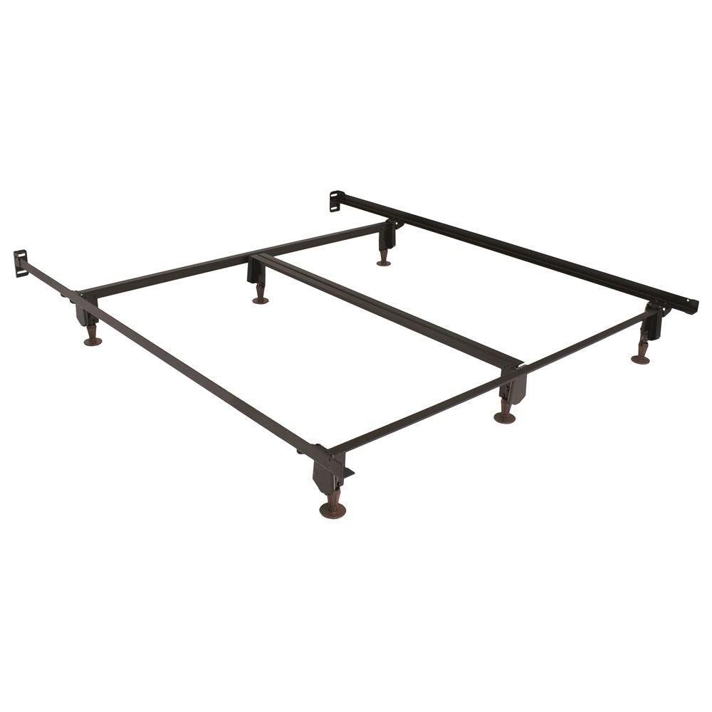 "Hollywood Bed  Eco-Matic® 7.5""H Bed Frame w/ Glides & 76in Side Rails, Eastern King"