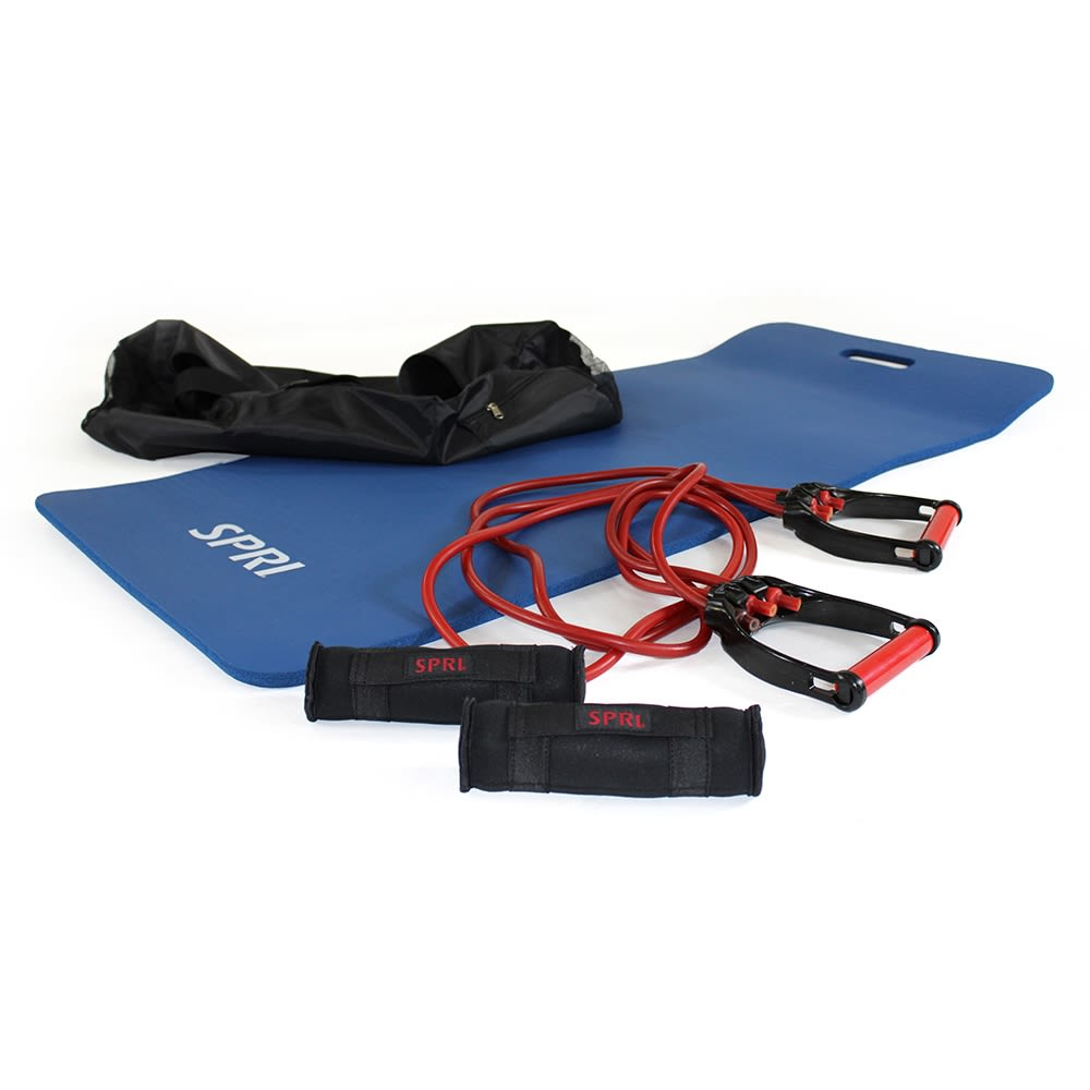 HOT-FITBAG Fitness In A Bag- Mini Countour Weights, Yoga Mat, Suspension Training Cable System