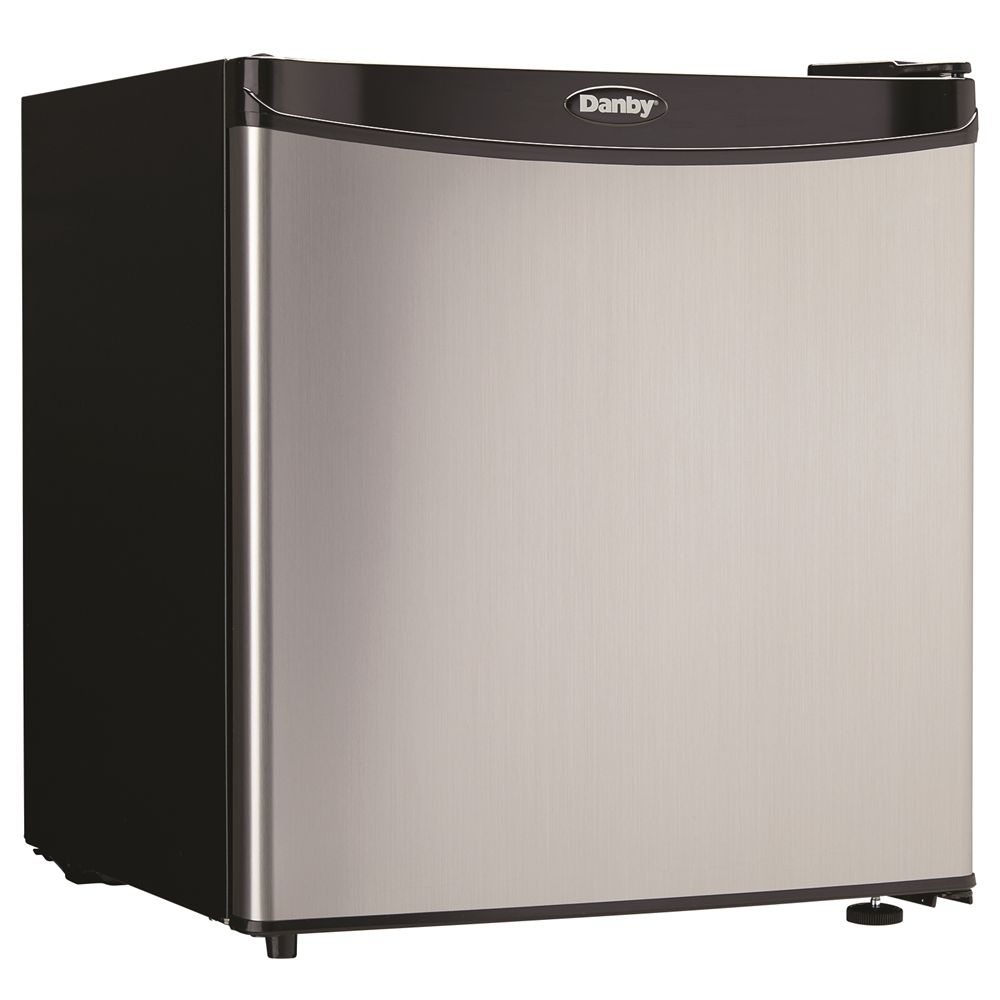 Danby® Compact Refrigerator, 1.6 Cu Ft, Energy Star Rated, Auto Defrost, Stainless Steel