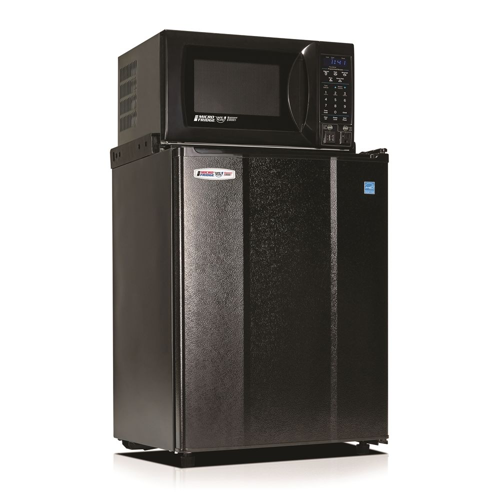 MicroFridge® Combo 2.5 Cu Ft Refrigerator / 0.7 Cu Ft Microwave, with USB Charging Station, Black