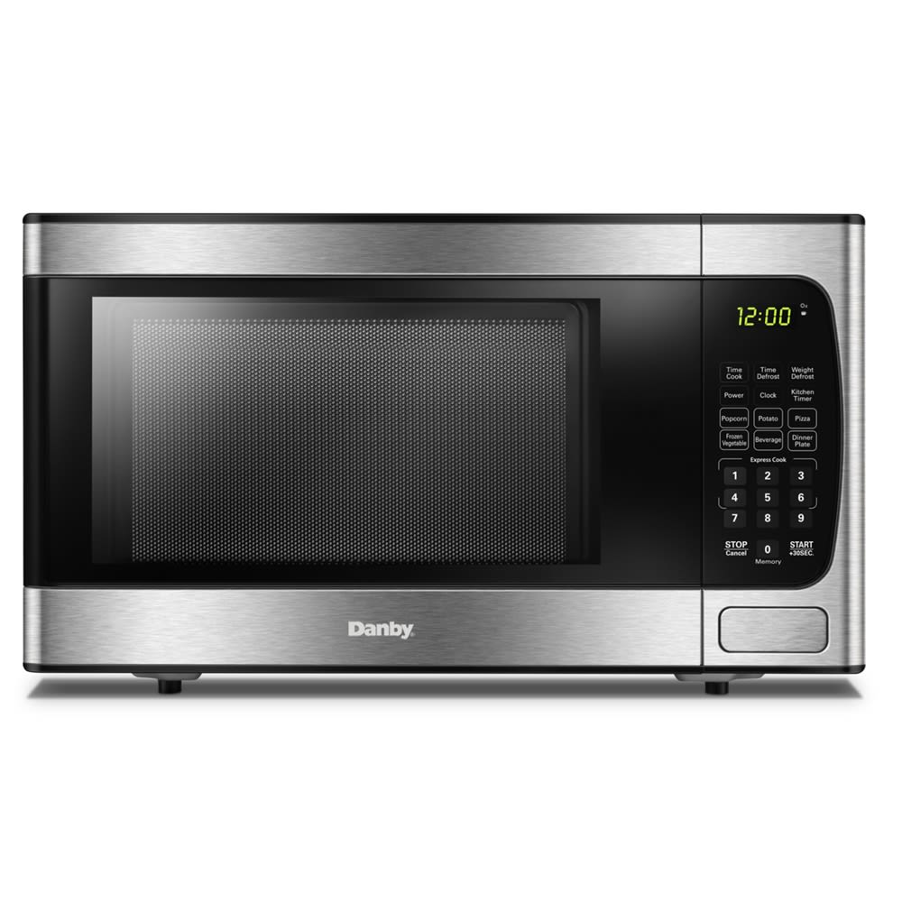 Danby®  Microwave w/ Touch Pad, 0.9 Cu Ft, 900 Watts, Black/ Stainless Steel