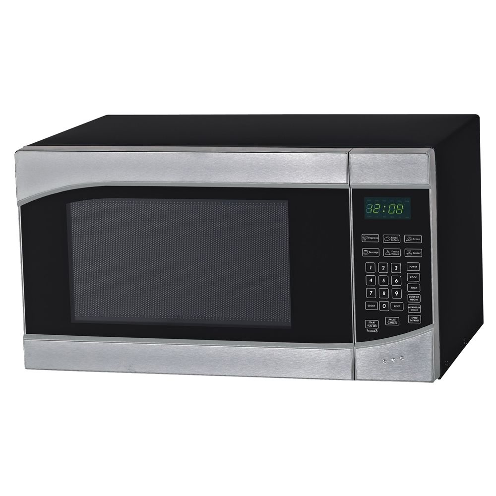 Avanti® Microwave with Touch Pad, 0.9 Cu Ft, 900 Watts, Stainless Steel/Black
