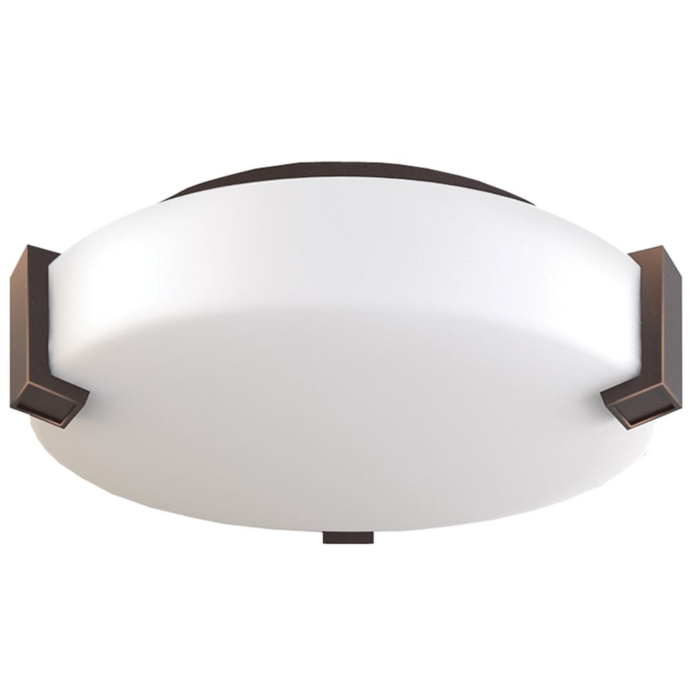 "Truly Yours Ceiling Light, 12"" Dia x 4"" H, Dark Bronze w/ Frosted Acrylic"
