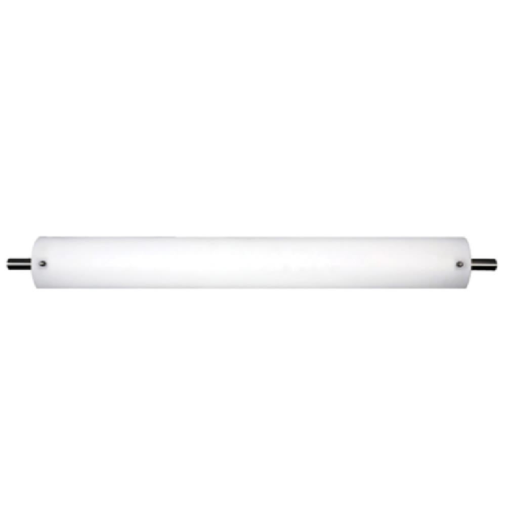 "30"" Fluorescent Vanity Light with Satin Nickel Accents"