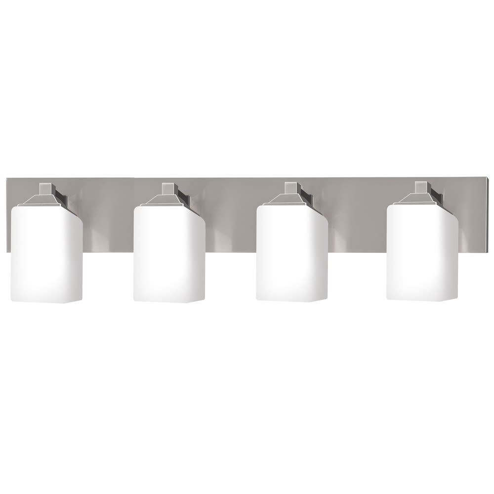 "4 Light 30"" Vanity Fixture with Brushed Nickel Finish"