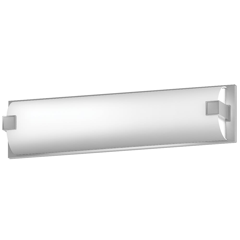 "26"" Vanity Light with Frosted Acrylic and Satin Nickel Finish"