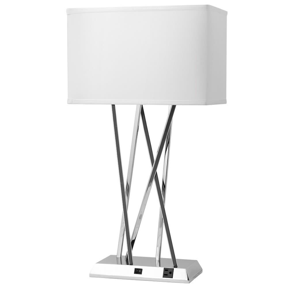 Breeze Single Table Lamp, Shiny Nickel Finish