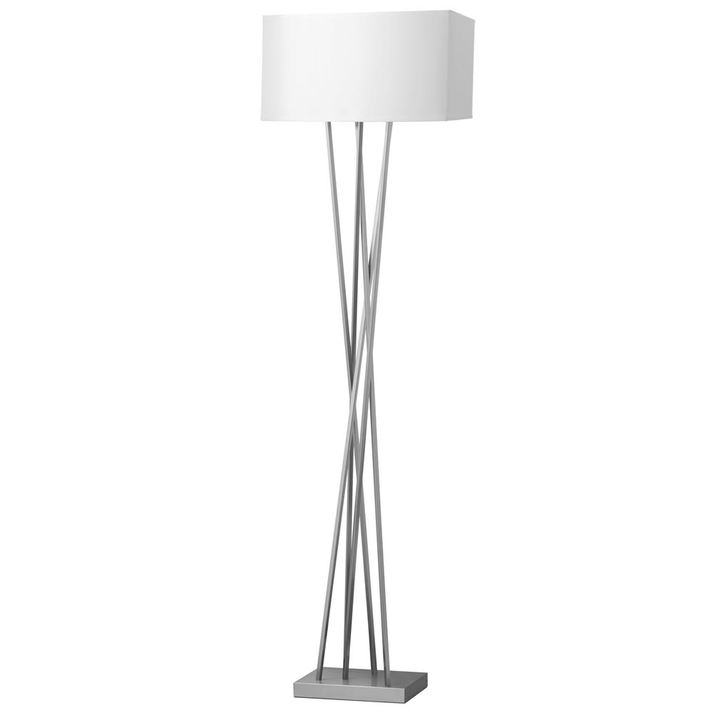Breeze Floor Lamp A , Shiny Nickel Finish, 70H Step Switch