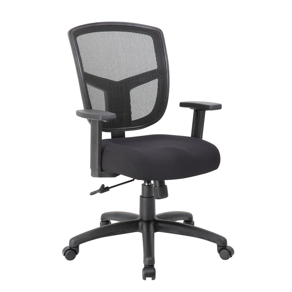 Boss Contract Mesh Task Chair, Black