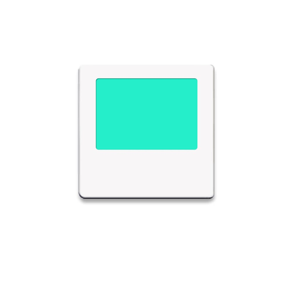 Limelite, Green Rectangle, Night Light, White Face Plate, 2.75W x 2.75H