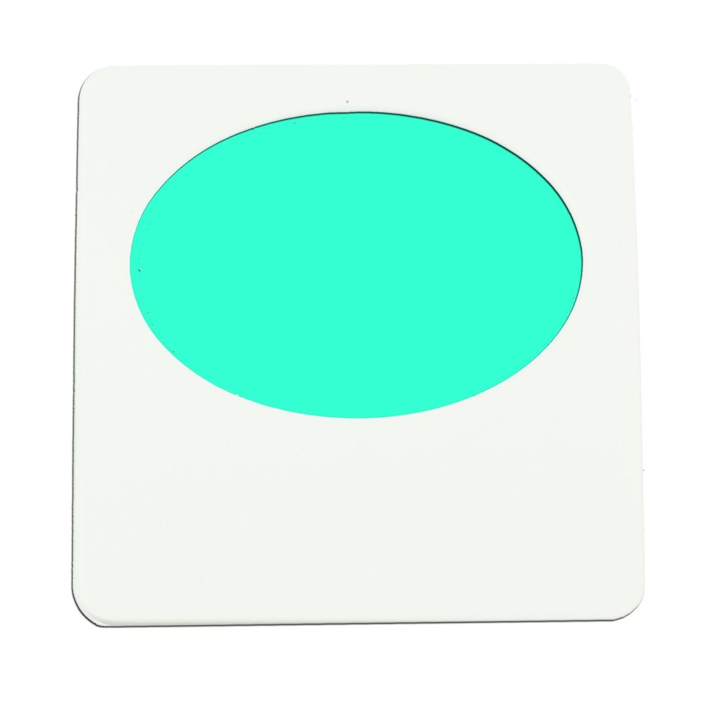 Limelite, Green Oval, Night Light, White Face Plate, 2.75W x 2.75H