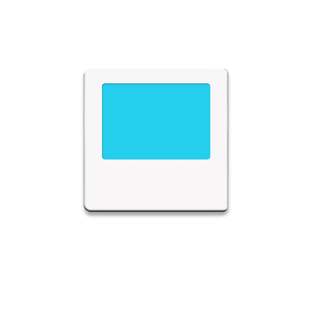 Limelite, Blue Rectangle, Night Light, White Face Plate, 2.75W x 2.75H